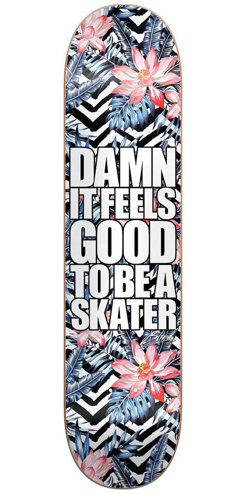 Blind Damn Plantlife HYB - Black/White - 8.0in - Skateboard Deck
