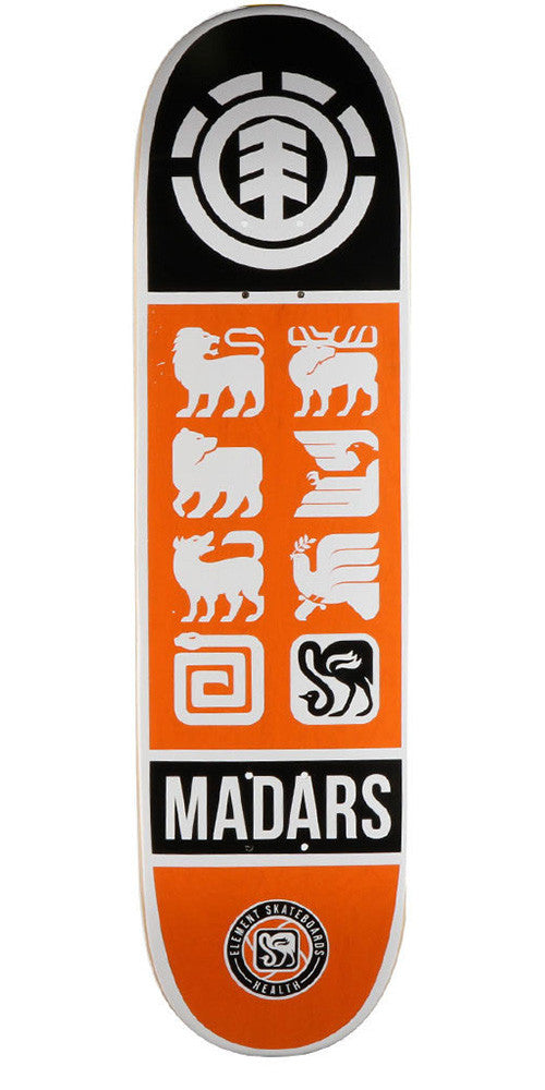 Element Madars Apse Ascend - Orange - 8.2 - Skateboard Deck
