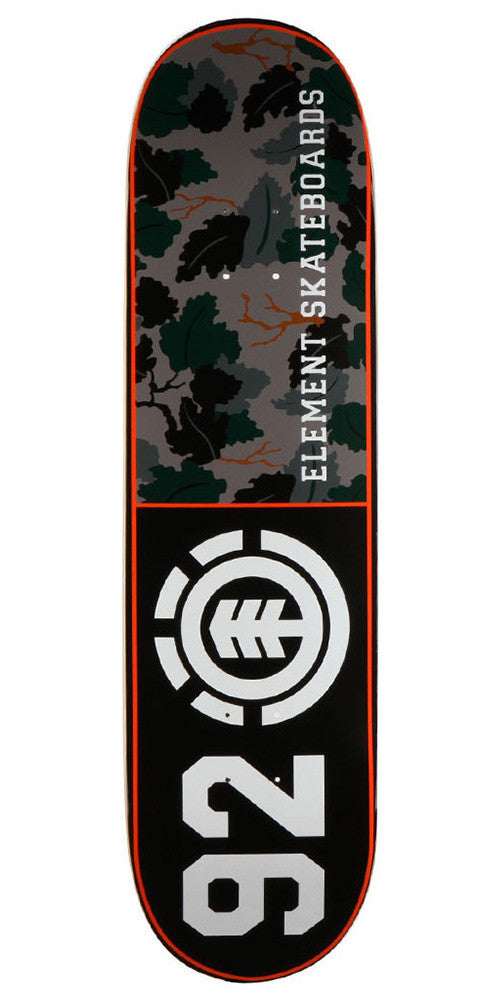 Element Wine Leaf 92 - Black/Camo - 8.37 - Skateboard Deck