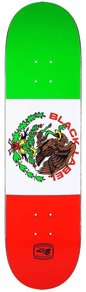 Black Label Super Mex - Red/White/Green - 8.38 - Skateboard Deck