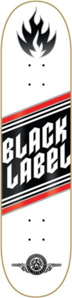 Black Label Top Shelf Metal - White - 8.25 - Skateboard Deck