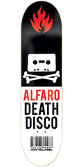 Black Label Adam Alfaro Death Disco - Black/White - 8.12 - Skateboard Deck