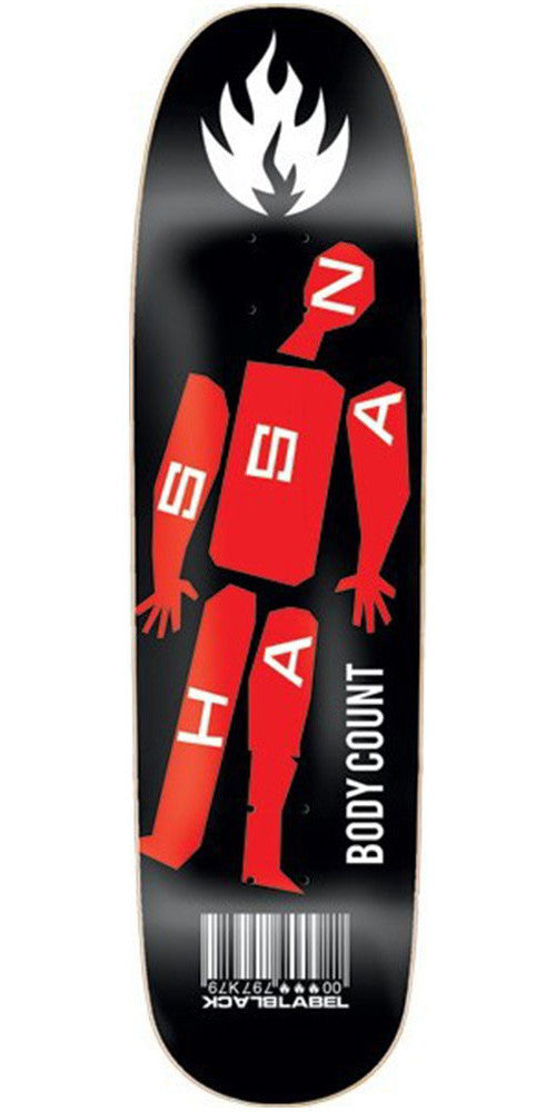 Black Label Omar Hassan Body Count - Black/Red - 8.62 - Skateboard Deck