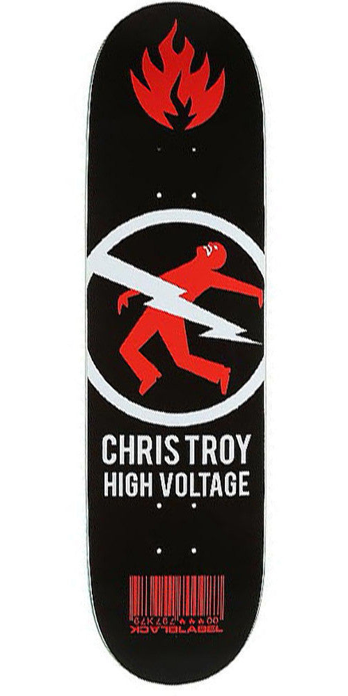 Black Label Chris Troy High Voltage - Black/Red - 8.5 - Skateboard Deck
