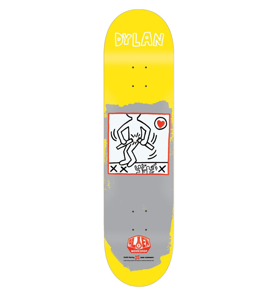 Alien Workshop Rieder Haring Series II - Yellow - 8.0 - Skateboard Deck