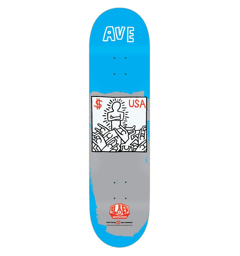 Alien Workshop Van Engelen Haring Series II - Blue - 8.125 - Skateboard Deck