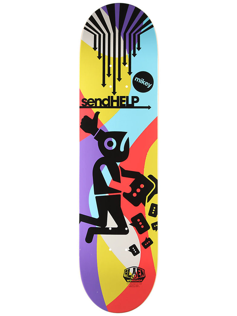 Alien Workshop MTaylor Send Help - Multi - 8.0 - Skateboard Deck
