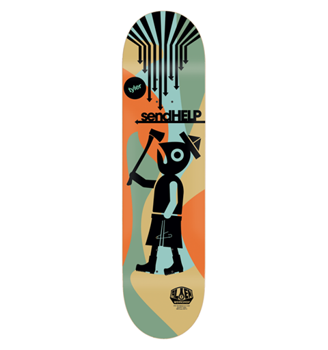 Alien Workshop Bledsoe Send Help - Multi - 8.0 - Skateboard Deck