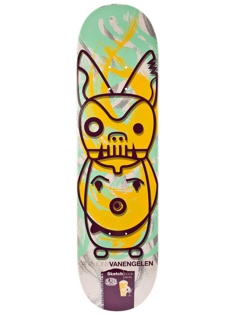 Alien Workshop Sketch Book Van Engelen - Multi - 8.25 - Skateboard Deck
