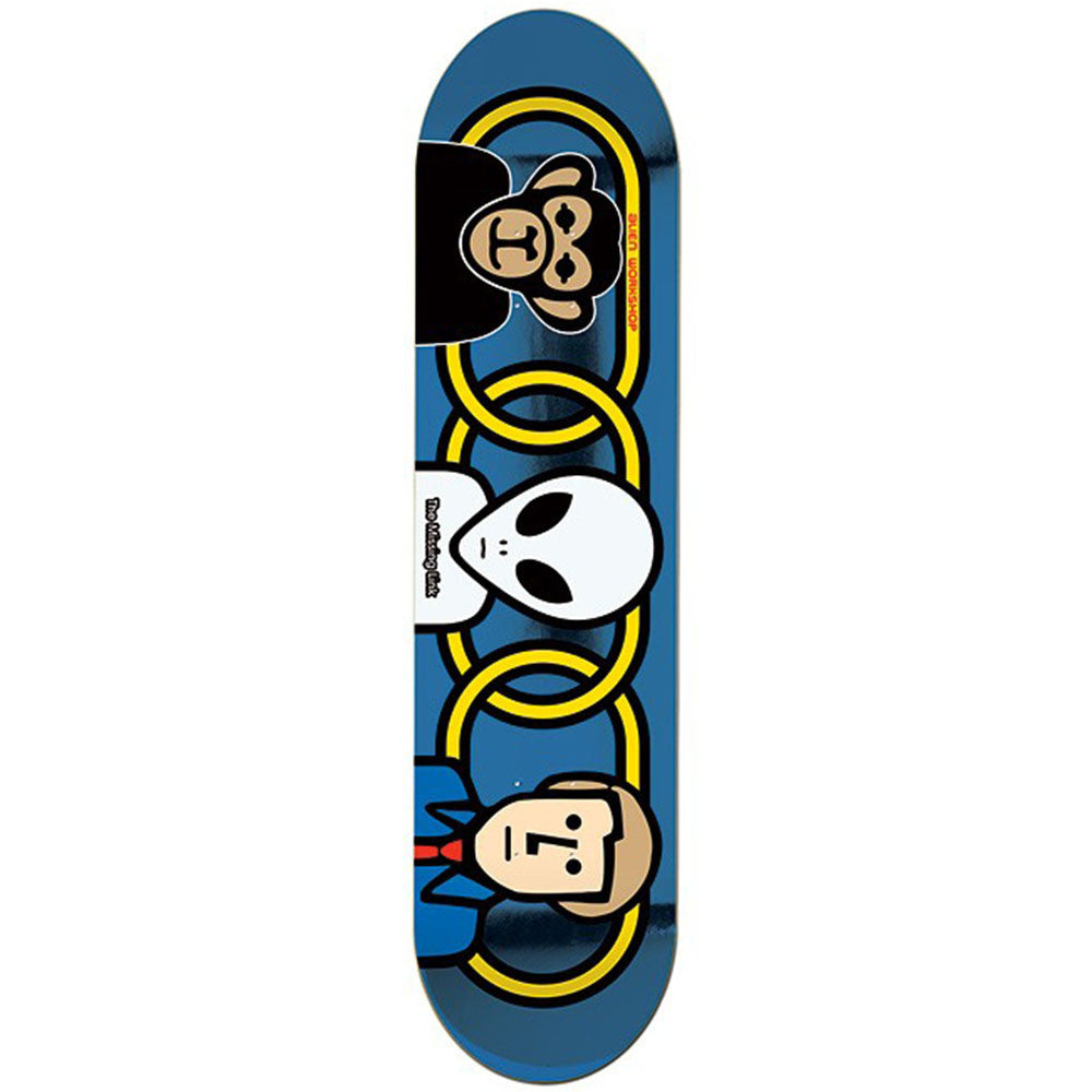 Alien Workshop Missing Link Small - Blue - 8.0 - Skateboard Deck
