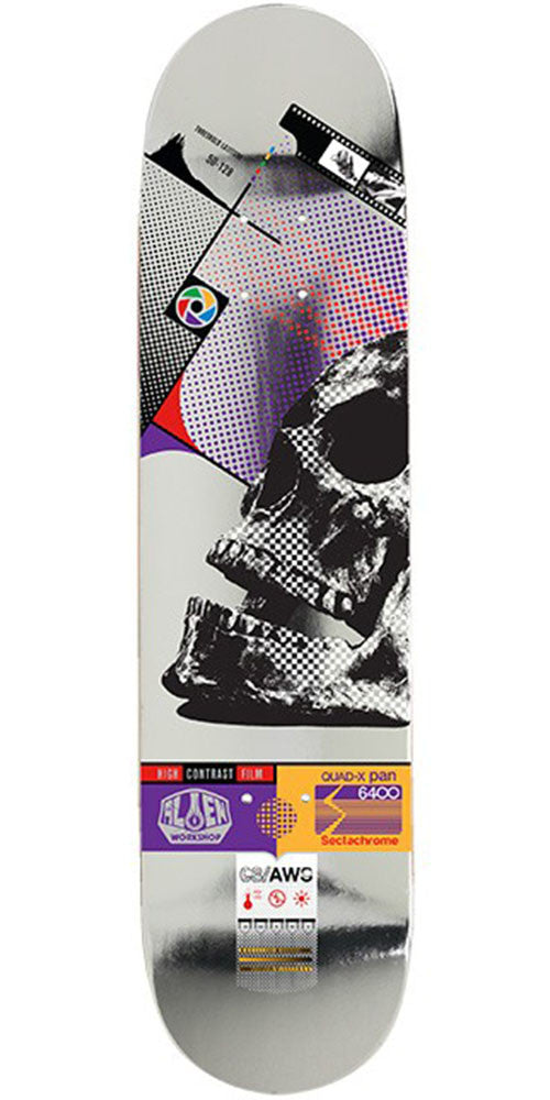 Alien Workshop Sectachrome Skull - Multi - 8.0in - Skateboard Deck