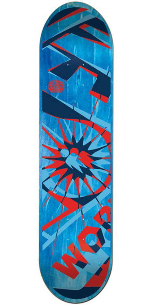 Alien Workshop Glyph Small - Blue - 8.0in - Skateboard Deck