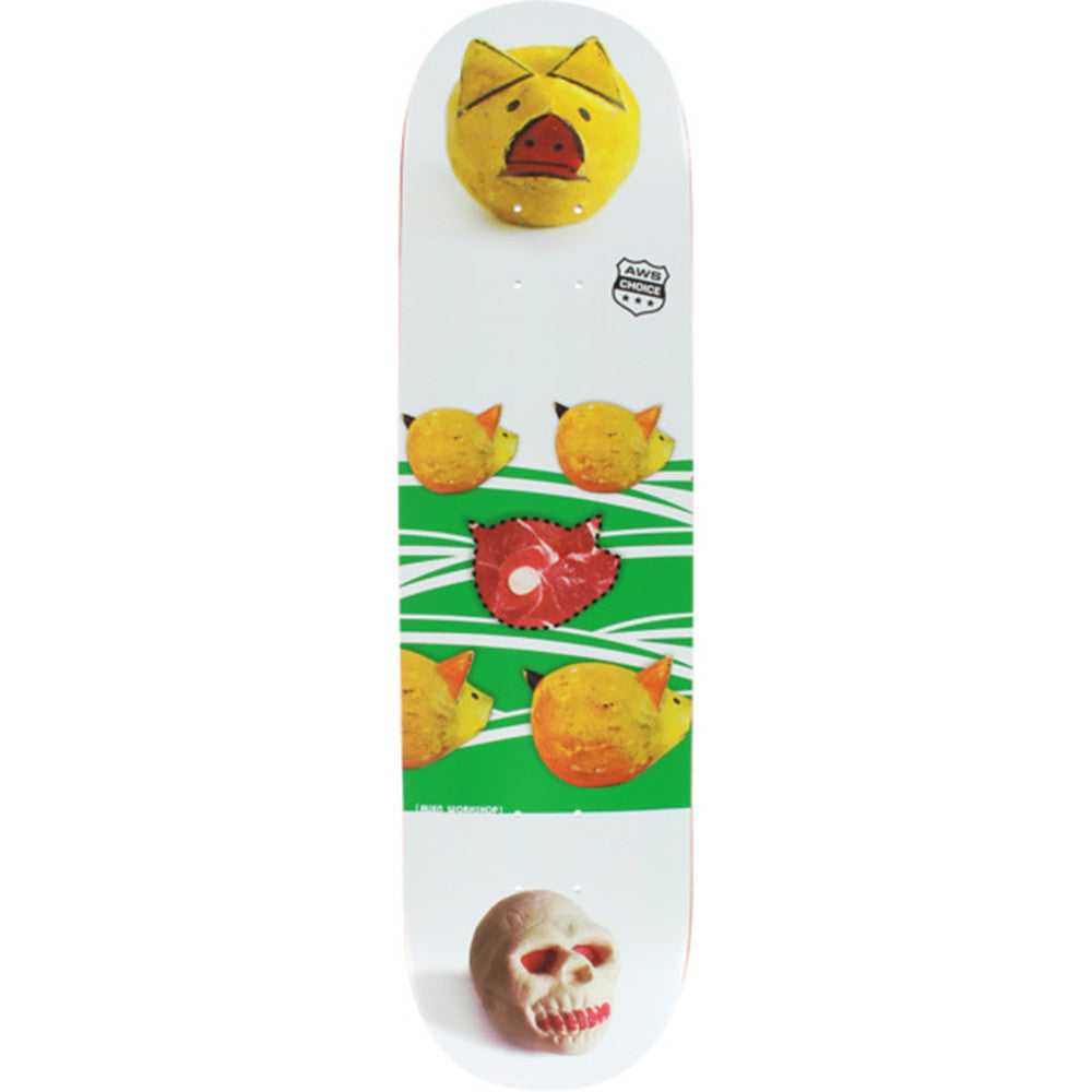 Alien Workshop Piggy Small - White - 8.125in - Skateboard Deck