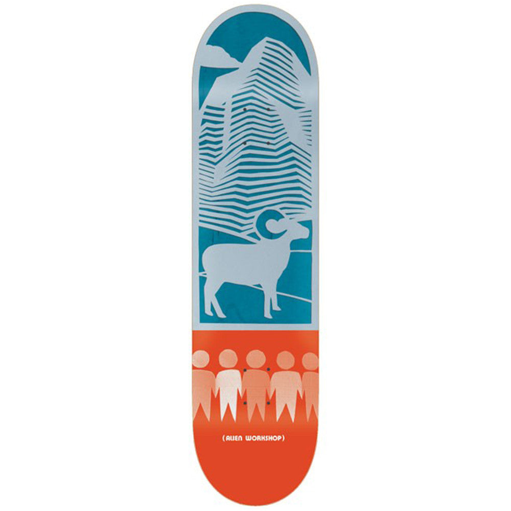 Alien Workshop Papercuts Mountain - Blue/Orange - 8.0in - Skateboard Deck