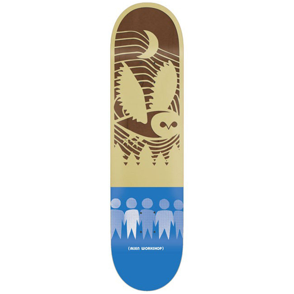 Alien Workshop Papercuts Forest - Brown/Blue - 8.125in - Skateboard Deck