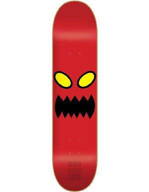 Blemished Toy Machine Monster Face PP - Red -  8.0 - Skateboard Deck