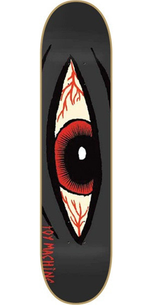 Toy Machine Bloodshot Sect Eye - Charcoal - 8.125 - Skateboard Deck