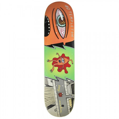 Toy Machine Templeton Splat - Green/Orange/Grey - 8.375 - Skateboard Deck