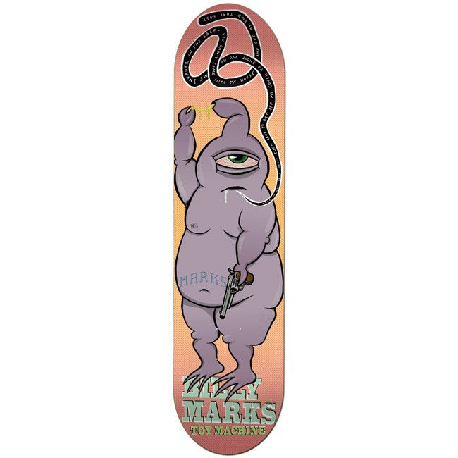 Toy Machine Marks Gun Culture - Purple/Pink - 8.0 - Skateboard Deck