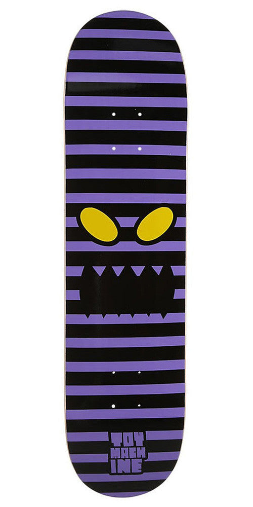 Toy Machine Monster Face Stripes - Purple - 7.875 - Skateboard Deck