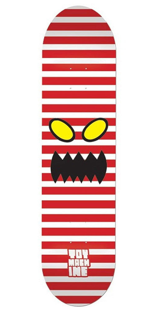 Toy Machine Monster Face Stripes - Red - 8.125 - Skateboard Deck
