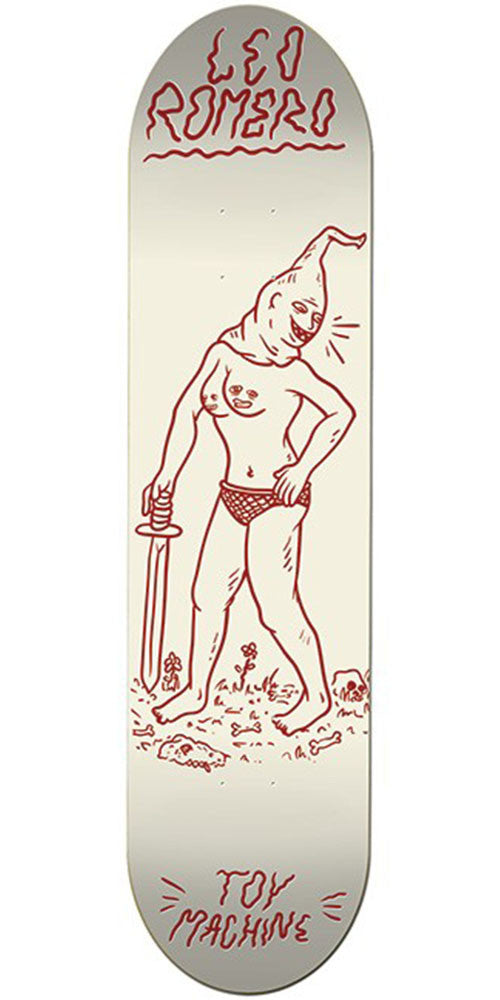 Toy Machine Romero Sword II - White - 8.5 - Skateboard Deck