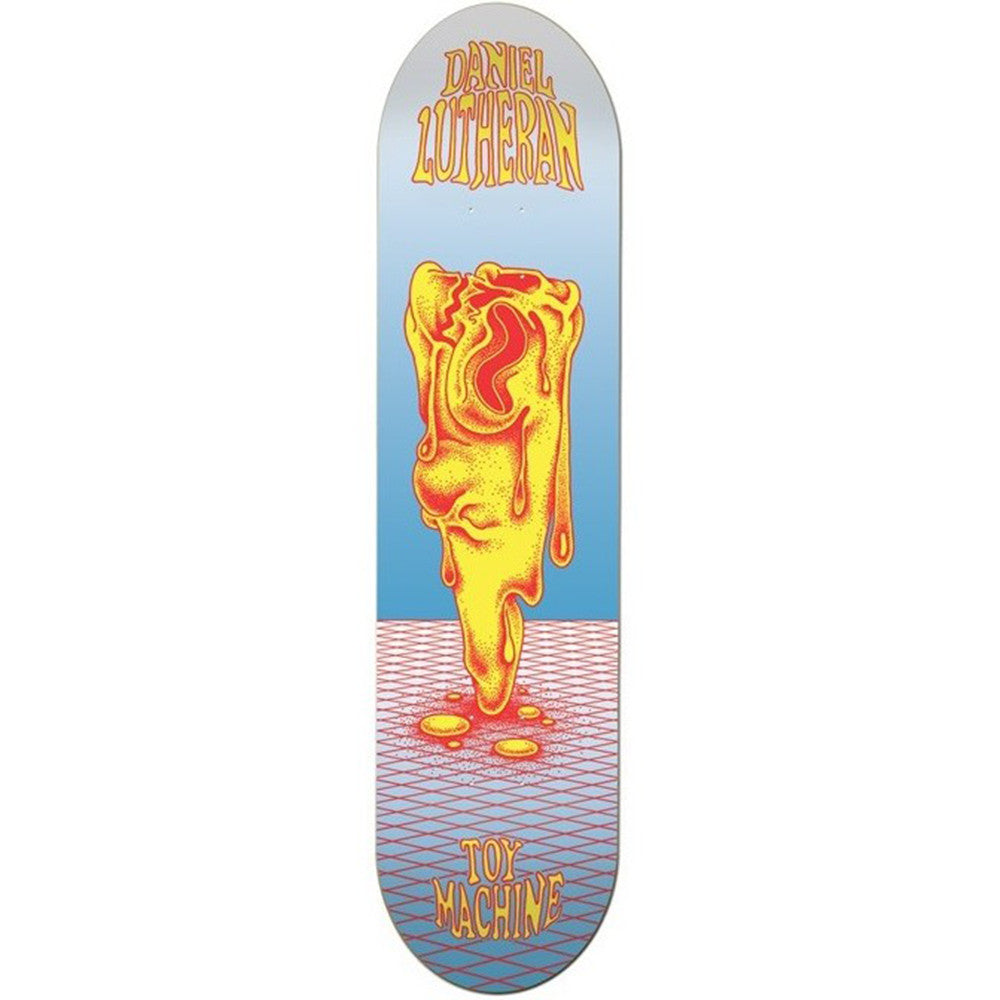 Toy Machine Lutheran Face Melt - Blue/Yellow - 8.125 - Skateboard Deck