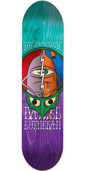 Toy Machine Lutheran Tie Dye TurtleHead - Teal/Purple - 8.0in x 32.25in - Skateboard Deck