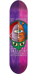 Toy Machine Lutheran Tie Dye TurtleHead - Pink/Purple - 8.25in x 32.375in - Skateboard Deck