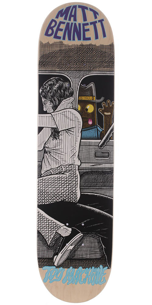 Toy Machine Bennett Peeping Toy - Multi - 8.0in x 31.375in - Skateboard Deck
