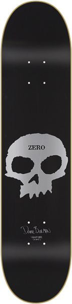 Blemished Zero Burman Signature Skull - Black - 8.0 - Skateboard Deck