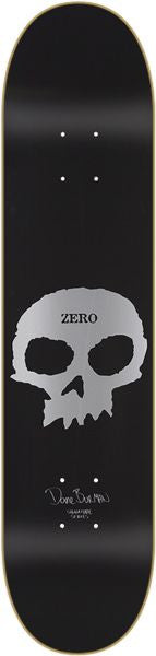 Zero Burman Signature Skull - Black - 8.0 - Skateboard Deck