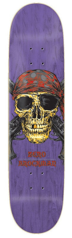 Zero Brockman Pirate - Purple - 8.125in - Skateboard Deck