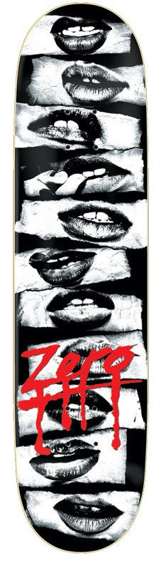 Zero Hot Lips - Black/White - 8.0in - Skateboard Deck