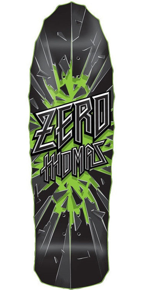 Zero Thomas Breakout Large Old School - Black - 9.75in - Skateboard Deck