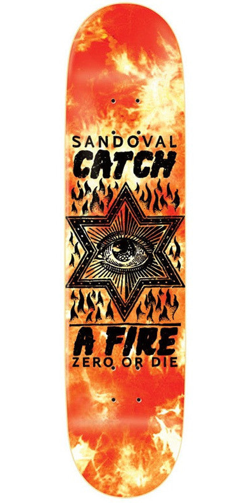 Zero Sandoval Catch A Fire - Red/Orange - 8.125in - Skateboard Deck