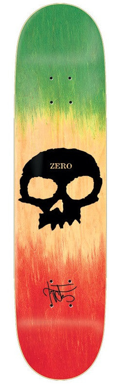 Zero Cervantes Skull Dye - Green/Natural/Red - 8.25in - Skateboard Deck