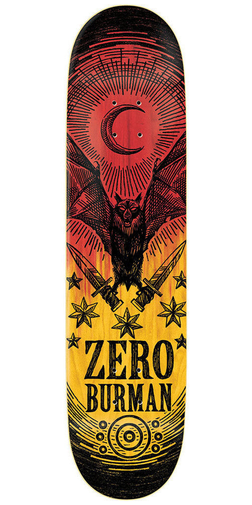 Zero Dane Burman Deliverance Series R7 - Red/Yellow - 8.5 - Skateboard Deck