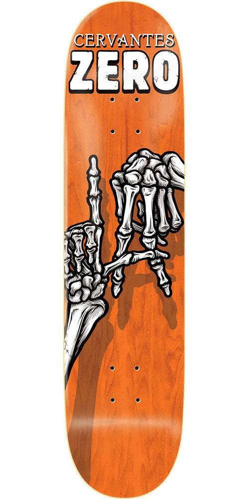 Zero Tony Cervantes Skeleton Hands R7 - Orange - 8.125 - Skateboard Deck