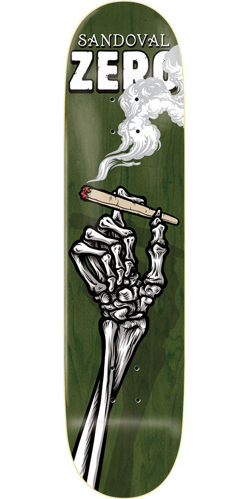 Zero Tommy Sandoval Skeleton Hands R7 - Green - 8.375 - Skateboard Deck