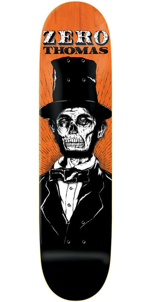 Zero Jamie Thomas Dead Presidents R7 - Orange/Black - 8.375 - Skateboard Deck