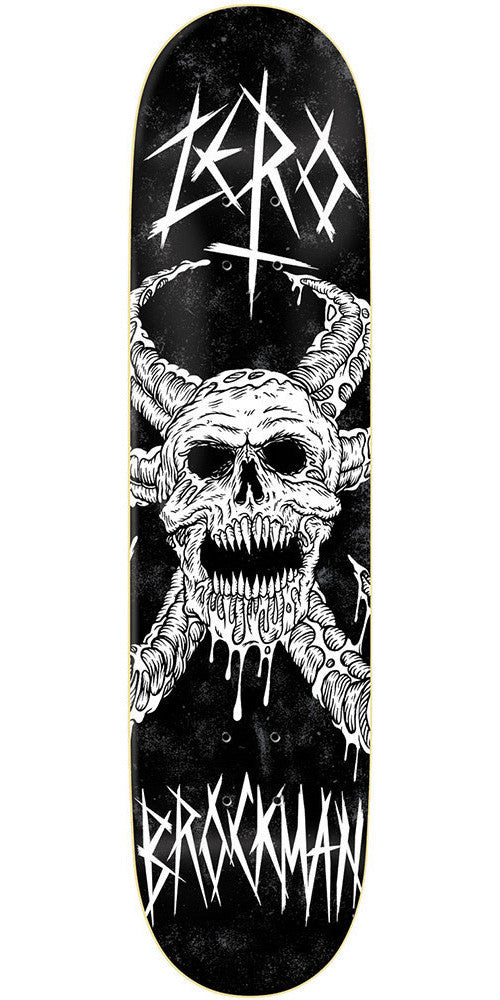 Zero James Brockman Warlord R7 - Black - 8.375 - Skateboard Deck