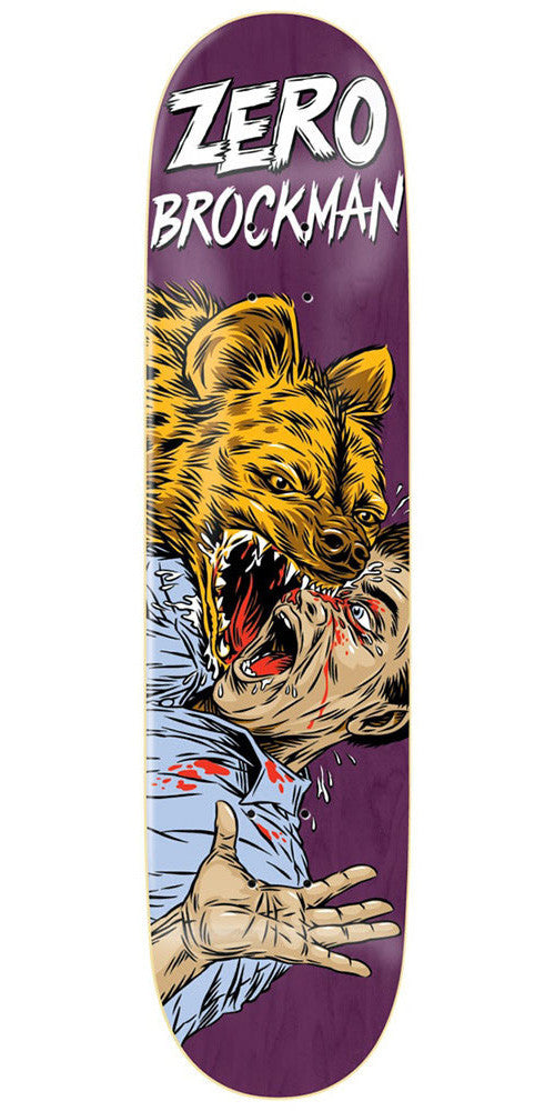 Zero James Brockman Animal Attack Impact Light - Purple - 8.25 - Skateboard Deck