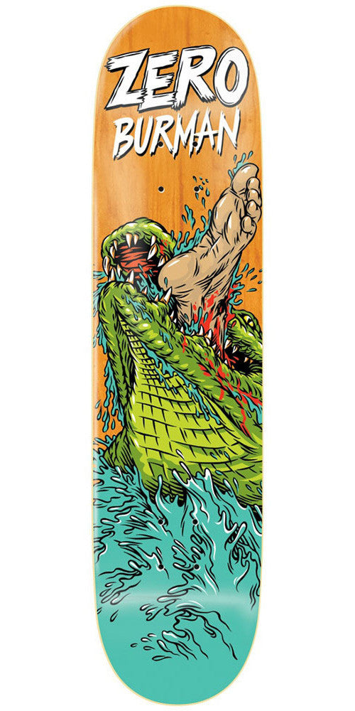 Zero Dane Burman Animal Attack Impact Light - Orange - 8.375 - Skateboard Deck