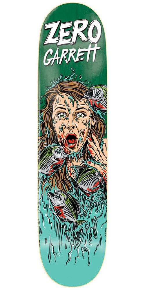 Zero Garrett Hill Animal Attack Impact Light - Green - 8.125 - Skateboard Deck