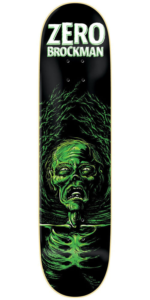 Zero James Brockman Apocalypse IL - Black/Green - 8.0in - Skateboard Deck