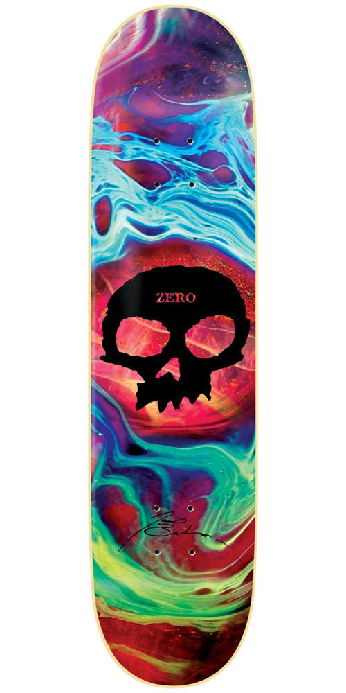 Zero James Brockman Tempest Skull IL - Tie Dye - 8.25in - Skateboard Deck