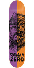 Zero Dane Burman Alter Ego R7 - Purple/Orange - 8.5in - Skateboard Deck
