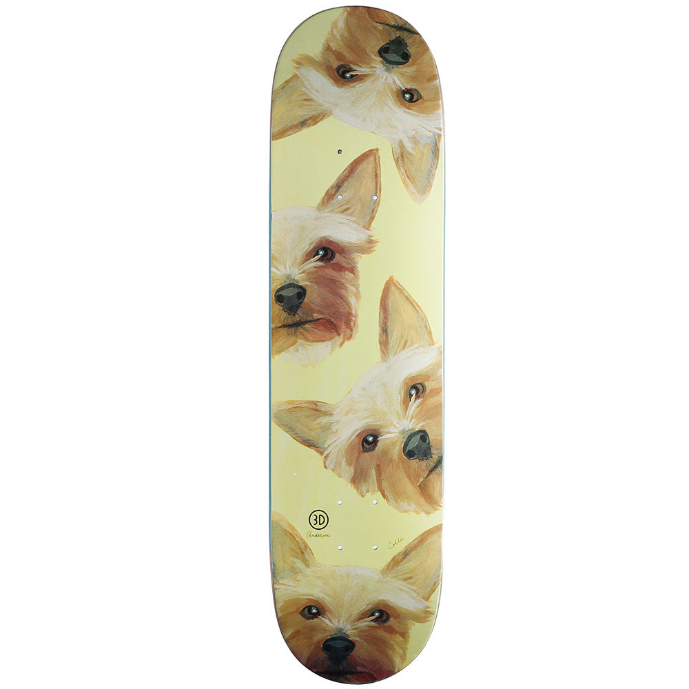 3D Anderson Collie Lloyd - Yellow - 8.1 - Skateboard Deck