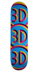 3D Logo 1 FL14 - Blue - 8.0 - Skateboard Deck
